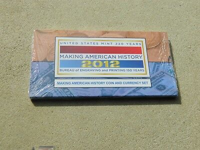 2012 Making American History Coin And Currency Set Silver Dollar & $5 Note