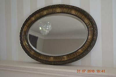 Faux Tortoise Shell Oval Wall Mirror 20x31 inches