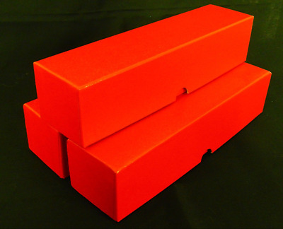 **3x RED Boxes 2x2 Coin Storage Box**( 2x2x9) FLIPS SINGLE ROW!!