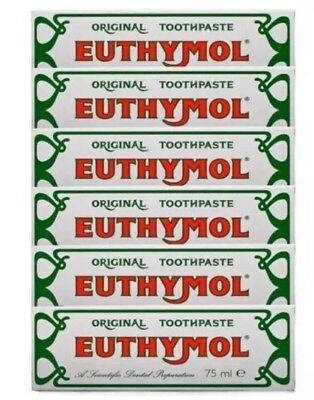 Euthymol 75ml Toothpaste - Multibuy Pack of 6  Exp July 2021