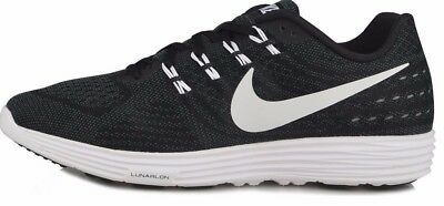 buy online 4bfb8 98ca2 NEW NIKE MENS Size 10 LunarTempo 2 Black/White Running Shoes 818097-002