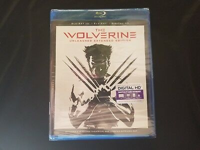 The Wolverine 3D Blu ray+Blu ray+Digital New