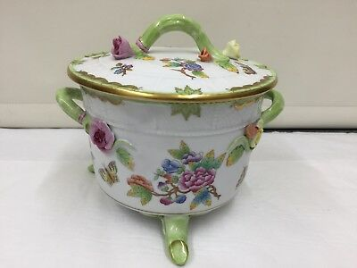 Herend Hungary Continental Porcelain Lidded Bowl