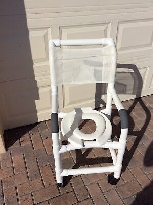 Mjm Pvc Shower Chair With Open Seat 19 Wide EUC