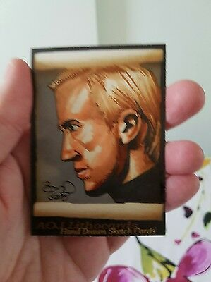 Harry Potter Draco Malfoy Hand Drawn Sketch Card By Jonathan D Gordon Psc Aceo