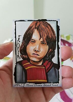Harry Potter Ron Weasley Hand Drawn Sketch Trading Card By Jonathan D Gordon Psc