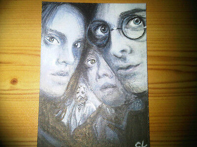 Stunning Harry Potter Hand Drawn Colour Sketch Art Trading Card Psc Aceo