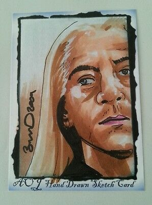 Lucius Malfoy Hand Drawn Sketch Art Trading Card By Jonathan D Gordon Aceo Psc