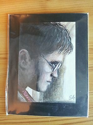 Stunning Harry Potter Hand Drawn Sketch Original Art Trading Card Aceo Psc
