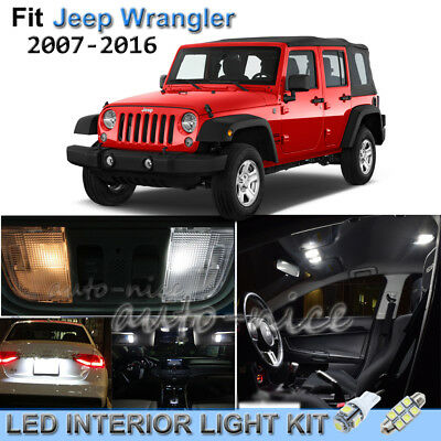White Led Lights Upgrade Interior Package For 2007 2016 Jeep Wrangler Picclick