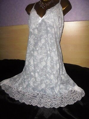 Stunning  mini slip  Exceptionally  silky !!! petticoat  gown baby doll 22/24