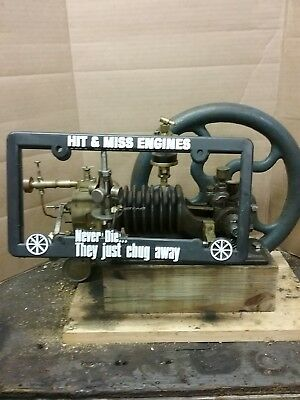 Hit Miss Engine license plate frames