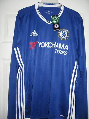 Bnwt Official Adidas Chelsea L/s Home Football Shirt ..mens Large  Rrp £74.99