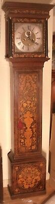 "Antique Walnut Floral Marquetry ""Kensington ""  Longcase / Grandfather Clock"