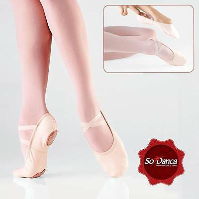 "So Danca SD16 ""Bliss"" Stretch Canvas Ballet Shoes, Split Sole, NWD"