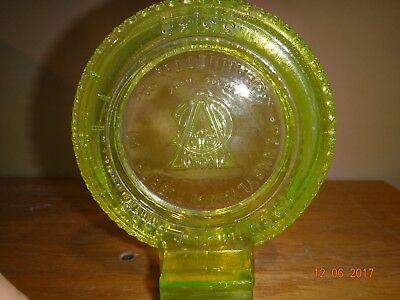 Vintage Pa Rubber Co Jeanette Pa Non Skid Vaseline Glass Tire Ashtray