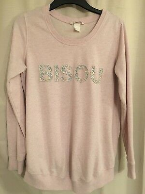 H&M MATERNITY MAMA size M / Medium Pink Jumper - Exc Condition - Very Lovely!