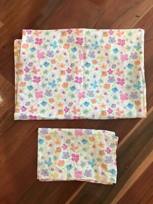 Girls Flower & butterflies Cot Doona Cover Set