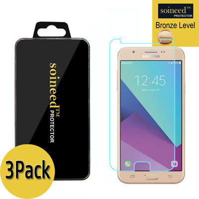 3-Pack SOINEED Samsung Galaxy J7 2017 Shockproof Tempered Glass Screen Protector