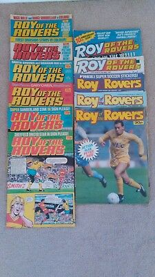 Roy Of The Rovers: batch of 11 football comics 1983, 1984, 1986, 1987, 1988