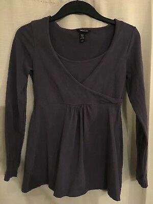 H&M MAMA MATERNITY / Nursing Purple top - Size S - Exc Cond