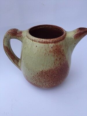 Pine Ridge Pottery signed E Woody Sioux Indian - Rare Design Pitcher coffee tea