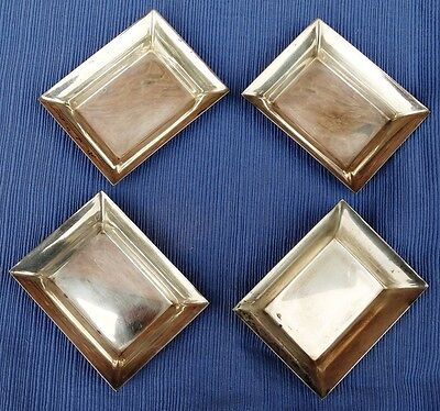 Set of 4 Vintage Stieff Sterling Silver Ashtray Butter Pat 180 gram 048