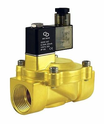 """1"""" Inch Low Power Consumption Electric Air Gas Water Solenoid Valve NC 220V AC"""