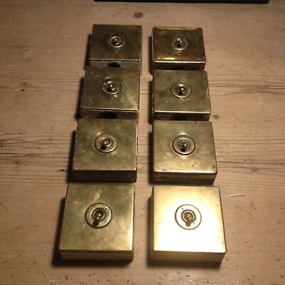 Vintage Industrial 1 Gang Brass Light Switch