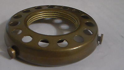 """NEW 2 1/4"""" Fitter Screw-on Uno-type Shade Holder Antique Finish Brass  #SHH86A"""