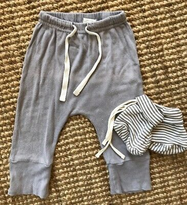 Nature Baby Light Grey Pants And Stripe Booties