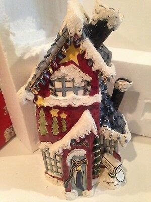 Blue Sky Clayworks Santa's Place Cookie Jar by Heather Goldminc 2004 MINT IN BOX