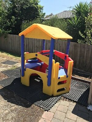 Kids Outdoor Play Gym Cubby House with Slide / Stairs