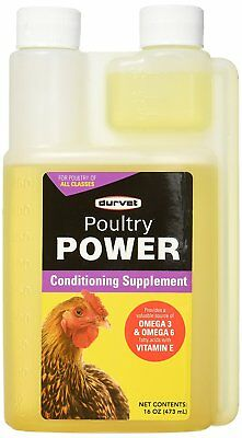 Durvet Poultry Power Conditioning supplement Omega 16oz