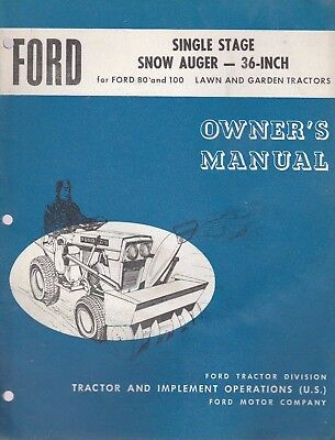 3 Ford Lawn & Garden Equipment Operator Manuals