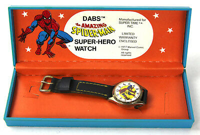 DABS Spiderman Watch Manufactured for Super Time Inc. 1977 Marvel Comic Group