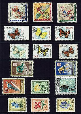Mongolia  Various Stamps...collection...