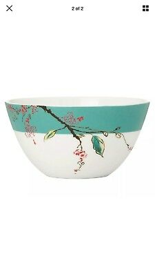 Lenox Simply Fine Chirp Tall Bowl Pair Set Of 2 NEW  WITH TAG.