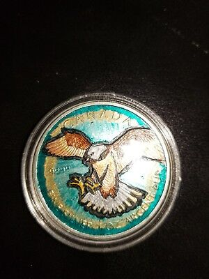 Rare Silver 1 oz Canadian Peregrine Falcon Birds of Prey