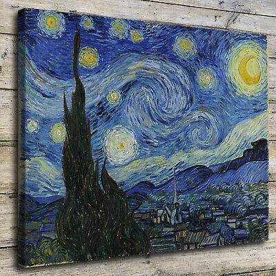 Van Gogh Starry Night Paintings HD Print on Canvas Home Decor Wall Art Poster
