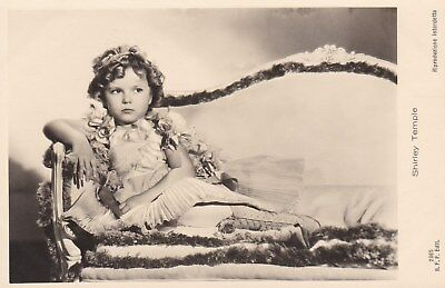 RARE! Shirley Temple Antique Vintage Original Ross Verlag Photo Postcard RPPC