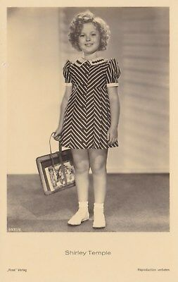 RARE! Shirley Temple Antique Vintage Original Ross Verlag Photo Postcard RPPC 4