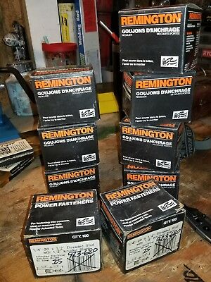 """Remington power fasteners 1/4"""" with threaded stud for electrical Junction Boxes"""