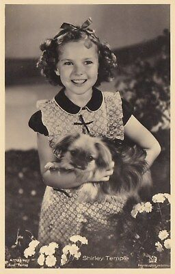 RARE! Shirley Temple Antique Vintage Original Ross Verlag Photo Postcard RPPC 7