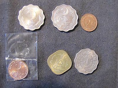 Lot of 6 Pakistan Coins - 1950 Anna, 1951 Pie, 1961, 1961 Paisa, 1962 10 Paisa