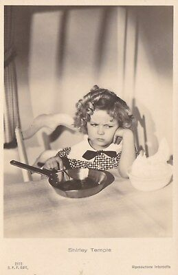 RARE! Shirley Temple Antique Vintage Original Ross Verlag Photo Postcard RPPC 13