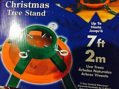 Lot of 2 Metal Christmas Live Tree Stand 7 Ft 4 In Trunk Diameter Solid Steel