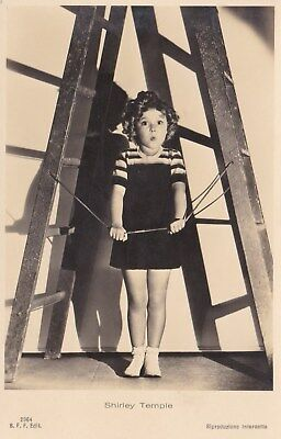 RARE! Shirley Temple Antique Vintage Original Ross Verlag Photo Postcard RPPC 17