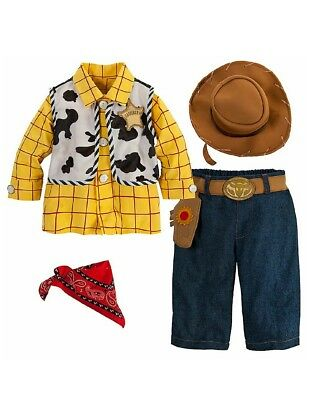 Disney Store Baby Boy Toy Story Woody Costume Outfit & Hat New Free Shipping