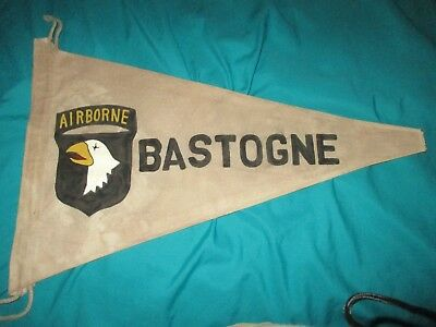 Wwii Us Army 101 St Airborne Division Bastogne   Campaign  Banner  Flag